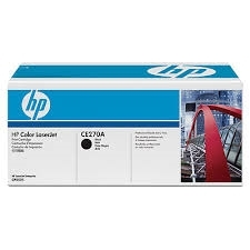 HP 650A Black LaserJet Toner Cartridge (CE270A)